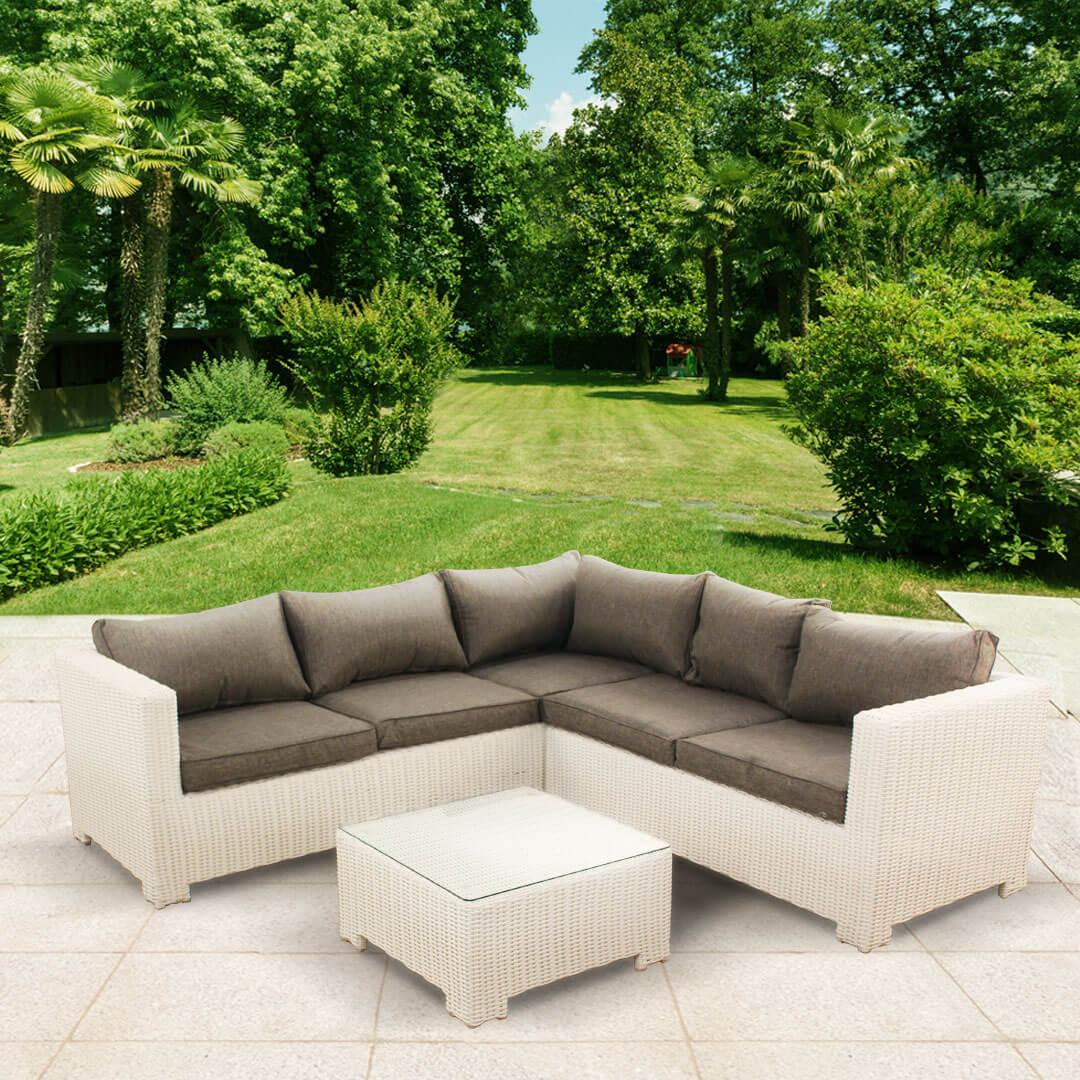 BillyOh Sala Half Weave Rattan 4-5 Seat Corner Sofa Set
