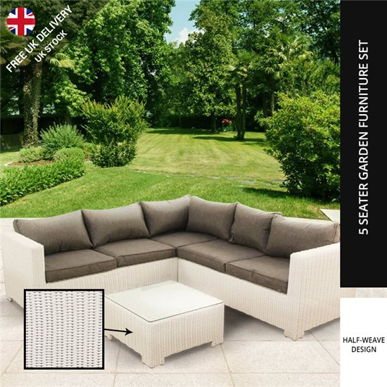 billyoh sala white seat rattan corner sofa set