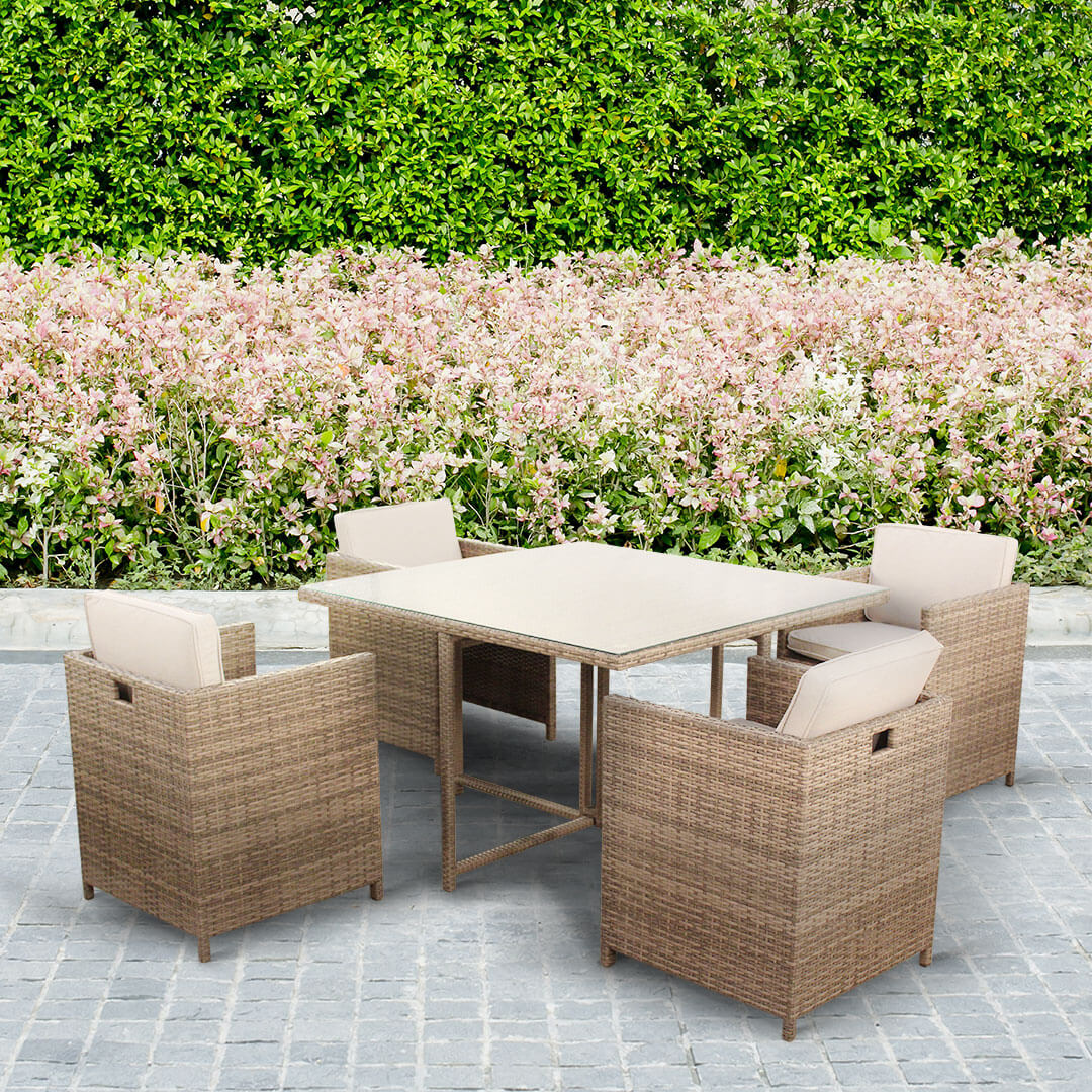 BillyOh Rosario 4 Seat Rattan Cube Set - Garden Furniture