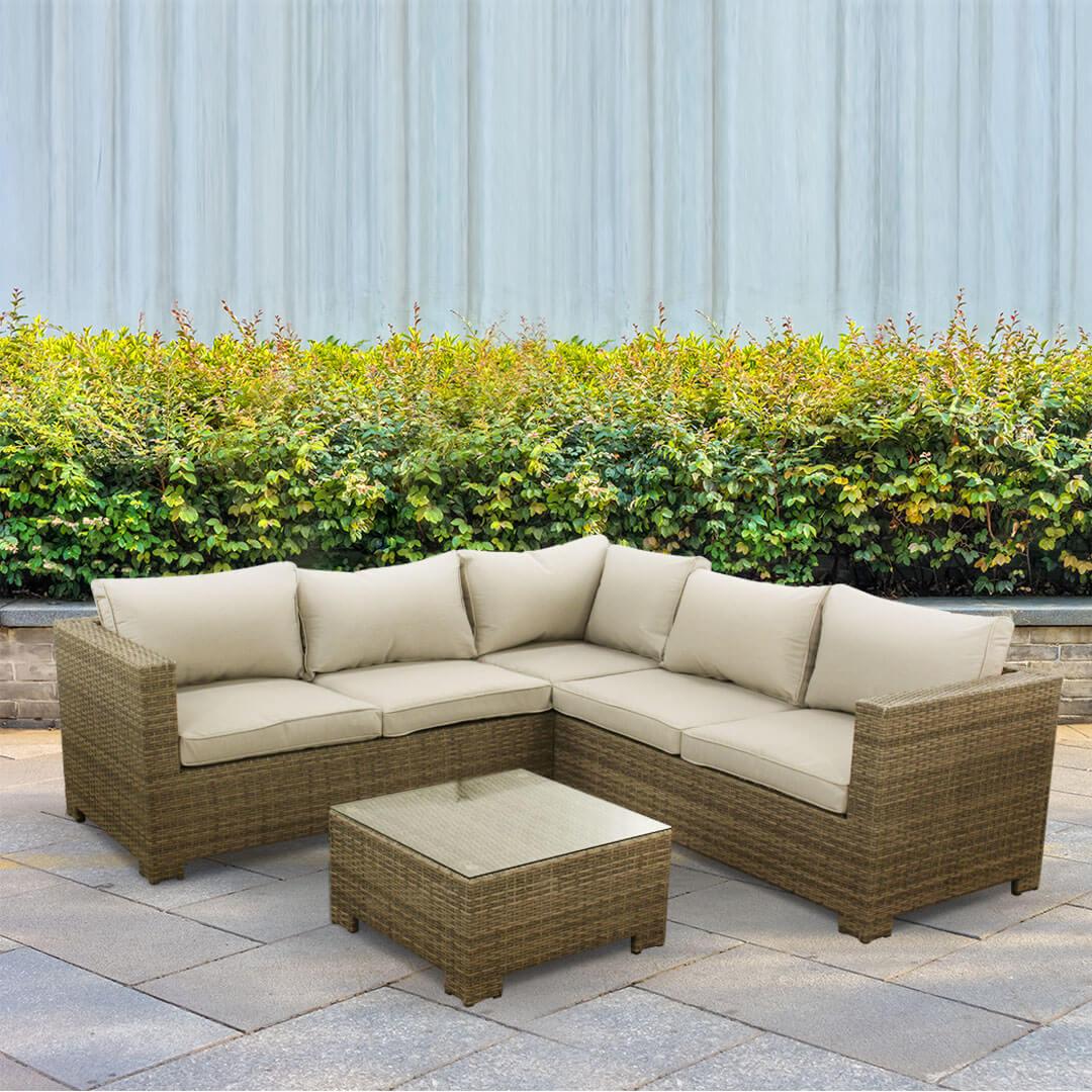 BillyOh Momo 5 Seat Rattan Corner Sofa Gaden Furniture Set