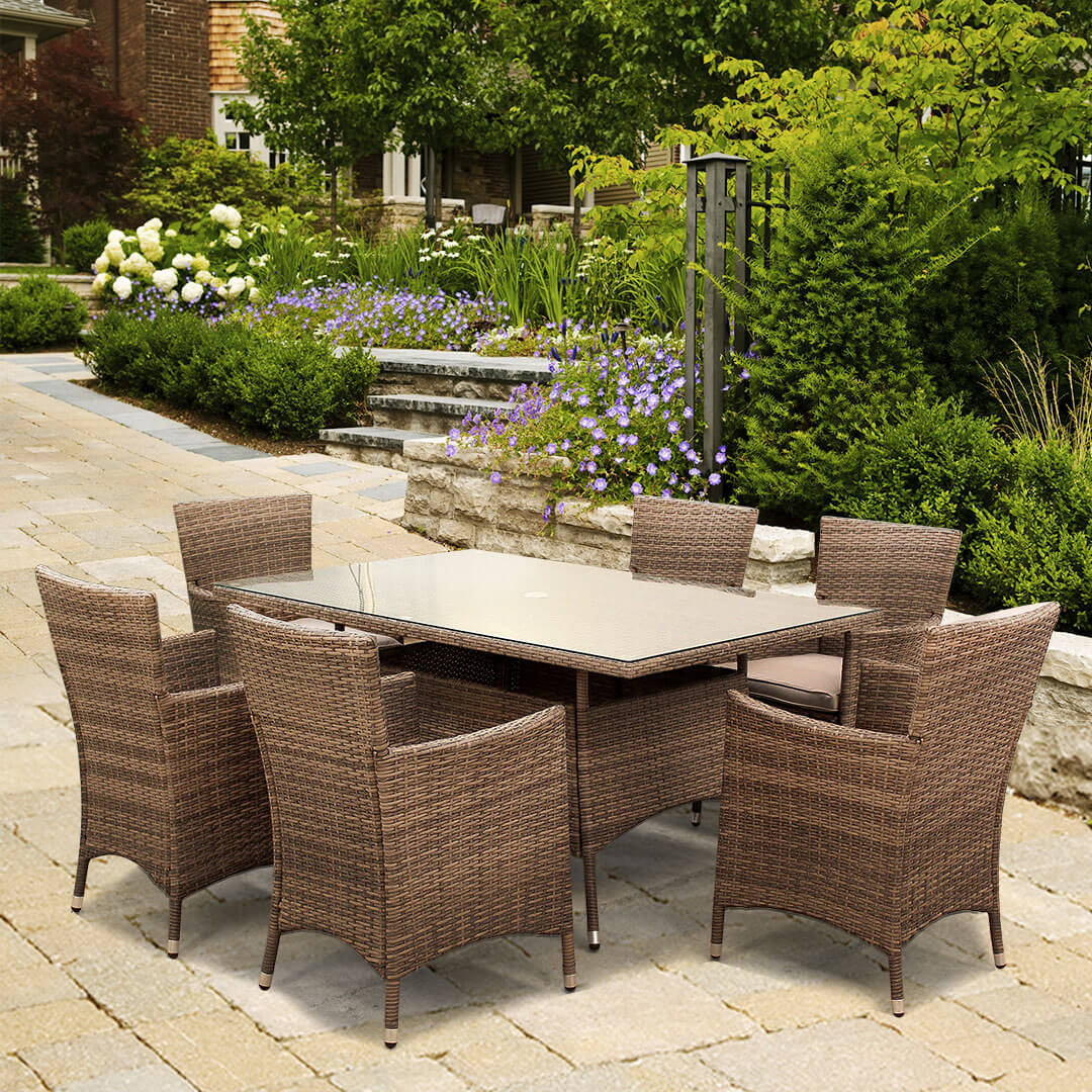Image of BillyOh Rosario - 150cm 6 Seat Rattan Rectangular Dining Set