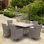 BillyOh Rosario - 150cm 6 Seat Rattan Rectangular Dining Set