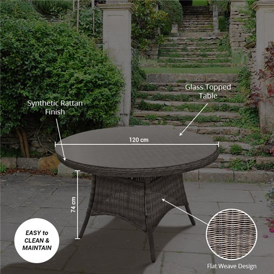 120cm Round Dining Table