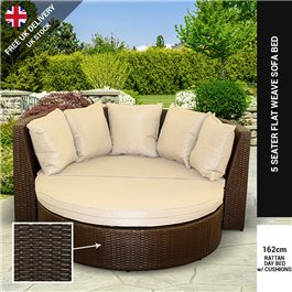 BillyOh Rosario Sofa Day Bed - Rattan Sofa in Natural or Dark Brown with Cushions
