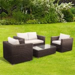 BillyOh Momo Lounger - 4 Seat Rattan Sofa Set in Dark Brown with Seat & Back Cushions