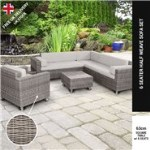 BillyOh Sala Patio Sectional Sofa Set - 6-Seat Rattan Set in Natural with Cushions