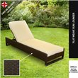 Sun Lounger set Dark Brown
