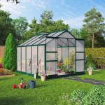 BillyOh Harvester Walk-In Aluminium Greenhouse - Double Door, Twin-Wall Polycarbonate Glazing