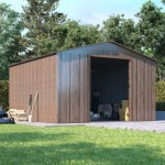 BillyOh Partner Woodgrain Apex Metal Shed