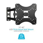 "BillyOh Vantage 3 TV Wall Mount Bracket Tilt & Swivel 30kg Max Weight for 26 30 32 37 40 42"" LCD LED Plasma Televisions 4K UHD"