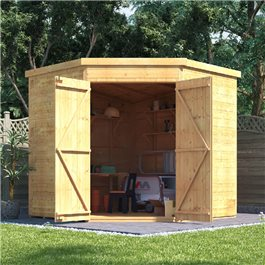 BillyOh Expert Tongue and Groove Corner Workshop Shed