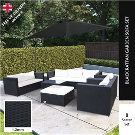 BillyOh Siena 8 Seater Conservatory Sofa Rattan Dining Set