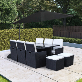 BillyOh Siena 10 Seater Cube Outdoor Rattan Dining Set