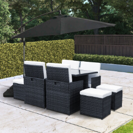 BillyOh Siena 8 Seater Cube Outdoor Rattan Dining Set