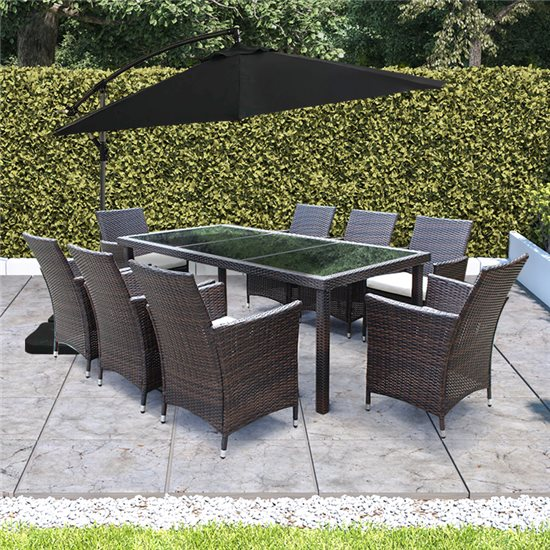 Pleasing Billyoh Modica 8 Seater Rectangular Outdoor Rattan Dining Set Short Links Chair Design For Home Short Linksinfo
