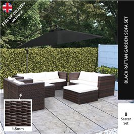 BillyOh Modica 8 Seater Conservatory Sofa Rattan Dining Set