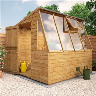 Potting Shed 8 x 6 Tongue and Groove Shed with Stable Door