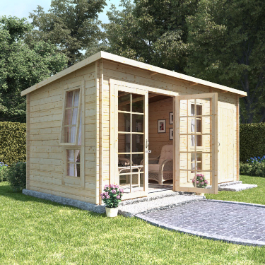 BillyOh Heston Log Cabin Summerhouse with Side Store