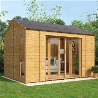 Cannes Wooden Garden Summerhouse Sunroom With French Doors