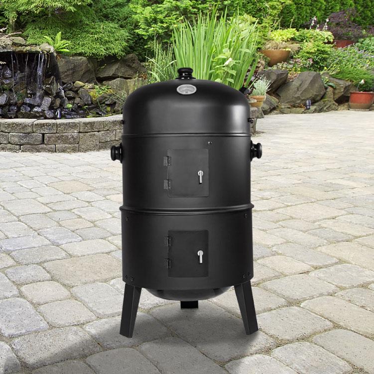 3 Tier Smoker Charcoal BBQ