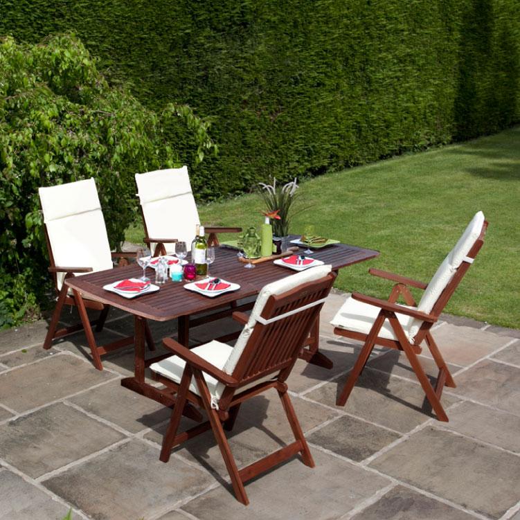 Billyoh Hampton 2m Erfly Extending Rectangular Dining Set Reclining Chairs Garden Furniture