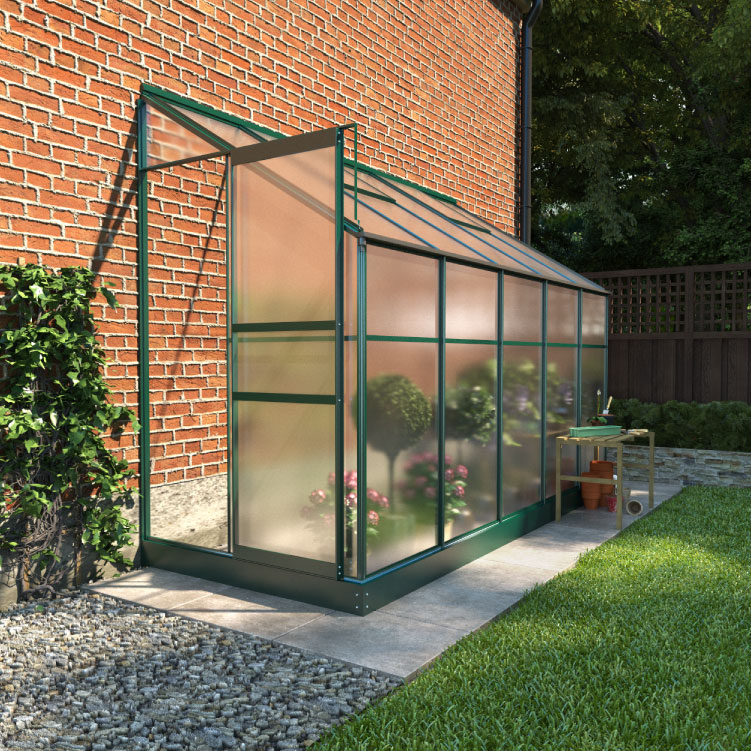 Details about BillyOh Polycarbonate Aluminium Frame Lean-To Garden Plant  Grow Greenhouse