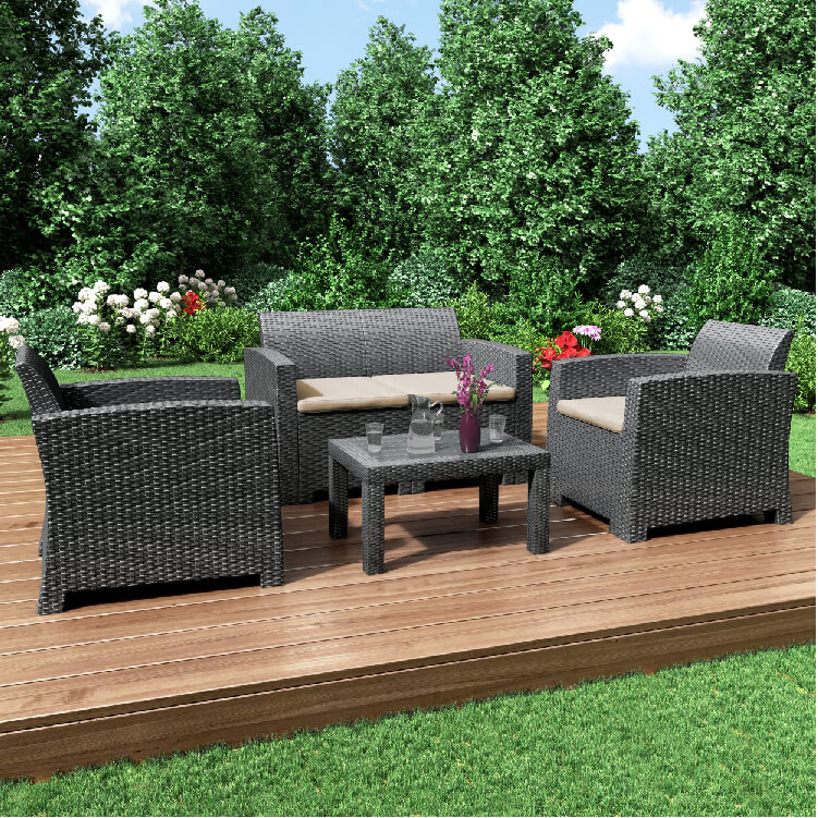 BillyOh Florence 4 Piece Rattan Sofa Set