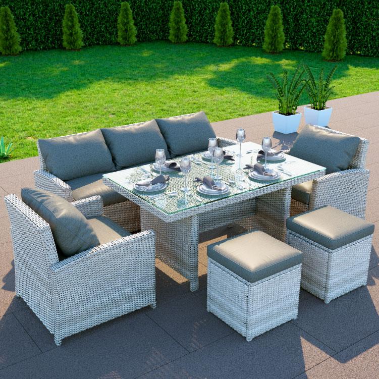 Excellent Billyoh Minerva Rattan Outdoor Garden 7 Seater Dining Sofa Frankydiablos Diy Chair Ideas Frankydiabloscom