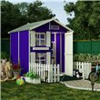 BillyOh 6x5 Mad Dash Standard Peardrop Junior Playhouse and Picket Fence - Painted with Violet