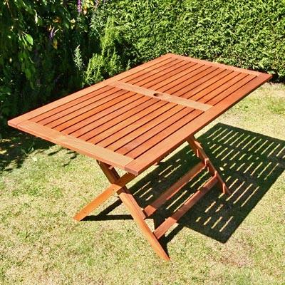BillyOh Elegance Garden Table - 1.35m Rectangular Folding