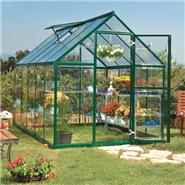 BillyOh 5000M Easy Fit Aluminium Green Greenhouse with Base & Opening Vent