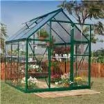BillyOh 5000S Easy Fit Aluminium Green Greenhouse with Base & Opening Vent