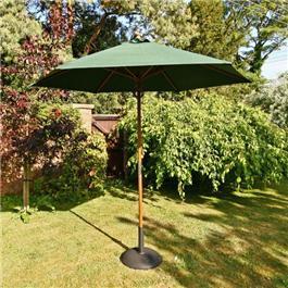 Sturdi 2.5m Hardwood Frame Garden Parasol - Green