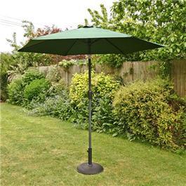 2.5m Sturdi Plus Aluminium Crank and Tilt Garden Parasol - Green
