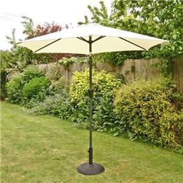 Image of 2.5m Sturdi Plus Aluminium Crank and Tilt Garden Parasol - Natural