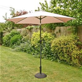 Image of 2.5m Sturdi Plus Aluminium Crank and Tilt Garden Parasol -Taupe
