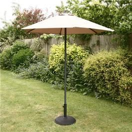 Image of 2m Sturdi Plus Aluminium Push Up Garden Parasol - Taupe
