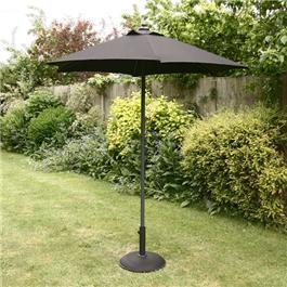 Image of 2m Sturdi Plus Aluminium Push Up Garden Parasol - Black