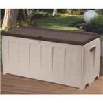 Keter Deluxe Plastic Garden Storage Box with Seat - 340 Litre Capacity