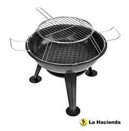 La Hacienda Portable Pizza Firepit Steel Firepit includes Grill