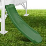 Mad Dash 1.15m Plastic Slide - Forest Green