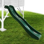Mad Dash 1.78m Plastic Slide - Forest Green