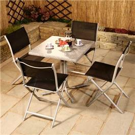 Acamp 4 Seater Folding Set Including Table and 4 Folding Chairs